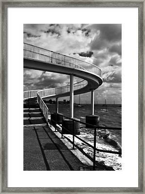 Framed Print featuring the photograph Walk Over Water by Trevor Chriss
