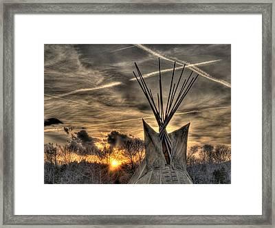 Walk Softly On The Earth Framed Print