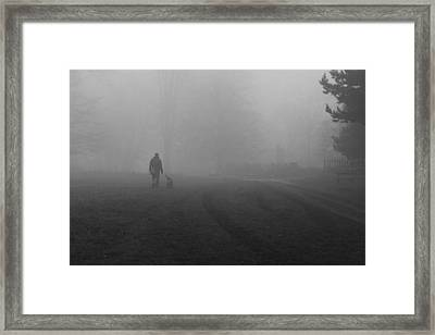 Walk The Dog Framed Print by Maj Seda
