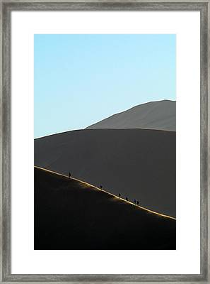 Walk The Edge Framed Print