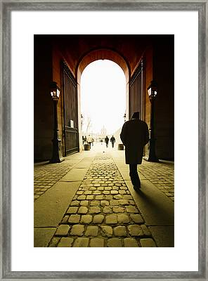 Walk Through The Door Framed Print by Mustafa Otyakmaz