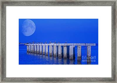 Walk To The Moon Framed Print