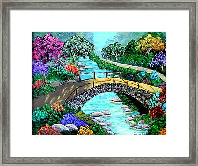 Framed Print featuring the painting Walk With Me by Fram Cama
