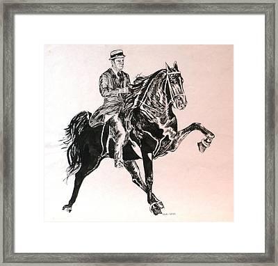 Walker Framed Print by Debi Davis