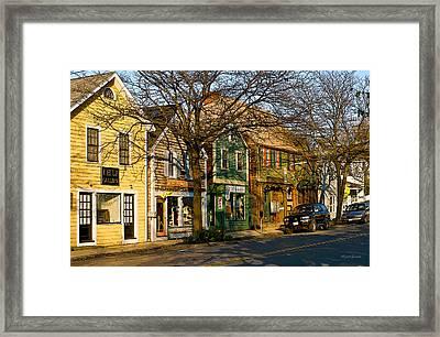 Walkin In Rockport Massachusetts Framed Print by Michelle Wiarda