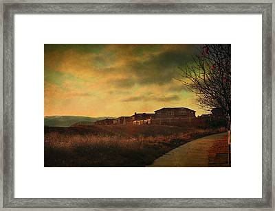 Walking Alone Framed Print by Laurie Search
