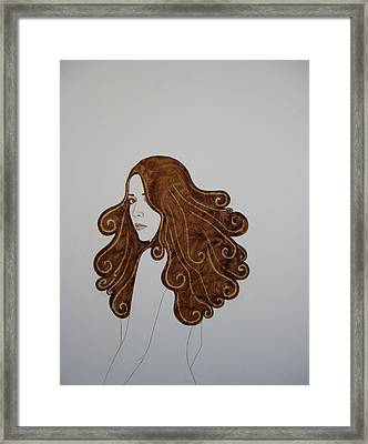 Walking Away Framed Print