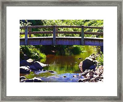 Walking Bridge At Otter Crest Framed Print