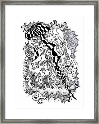 Walking By Framed Print by Fla Arakaki