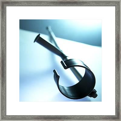 Walking Crutch Framed Print by Adam Gault