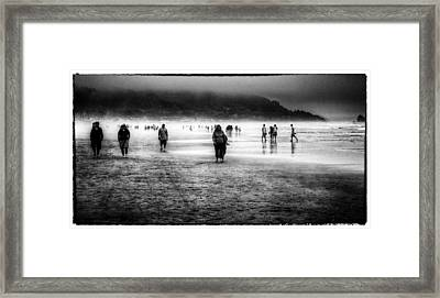 Walking In The Mist Framed Print by David Patterson