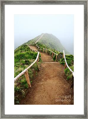 Walking Into The Clouds Framed Print by Gaspar Avila