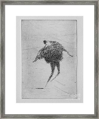 Walking Iv Framed Print by Valdas Misevicius