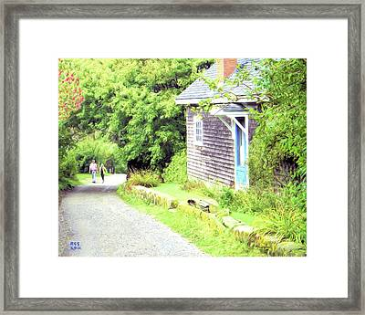 Walking Monhegan Framed Print by Richard Stevens