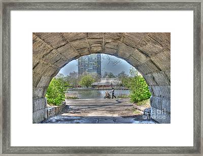 Walking My Baby Back Home Framed Print