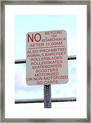 Walking Okay? Framed Print