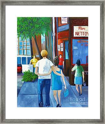 Walking On A Sunny Day Framed Print