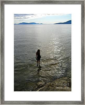 Walking On The Tide Framed Print