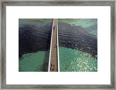 Walking On Water In Nassau Framed Print