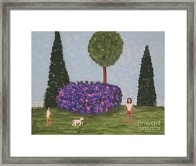 Walking The Dog Framed Print by Gregory Davis