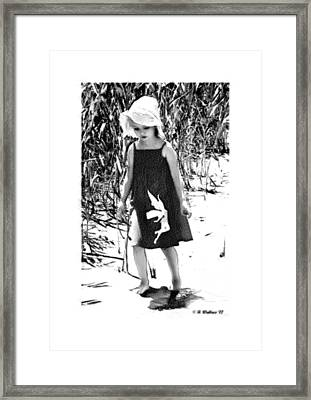 Walking The Shoreline Framed Print by Brian Wallace