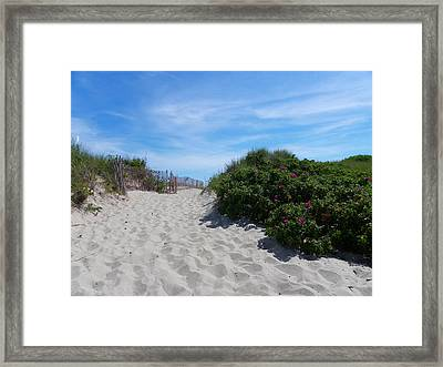 Walking Through The Dunes Framed Print