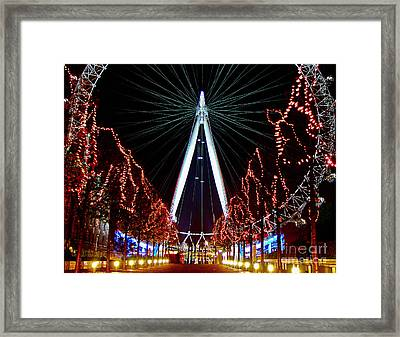 Walking To The Eye Framed Print by Thanh Tran