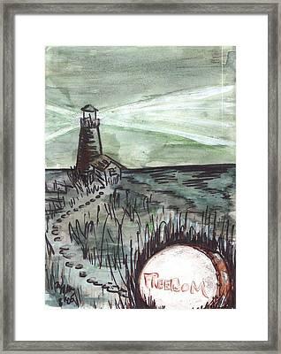 Walking Toward The Light Framed Print by Windy Mountain