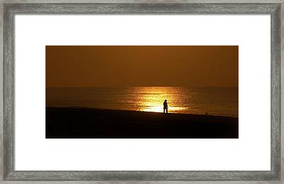 Walking With My Bird Framed Print by Michael Thomas