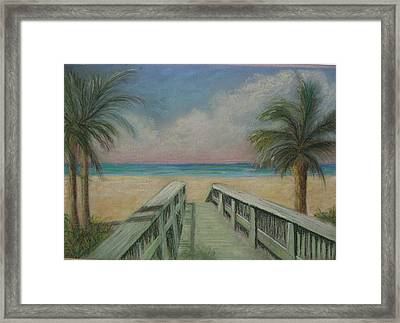 Walkover Framed Print by Shirley Horwich