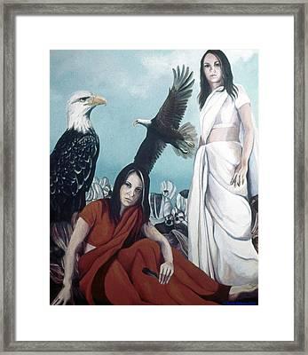 Walks With Eagles Framed Print by Kyra Belan
