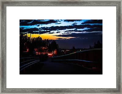Framed Print featuring the photograph Walkway by Matti Ollikainen