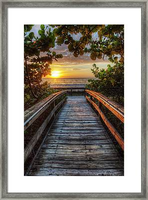 walkway to Paradise Framed Print by Nick  Shirghio