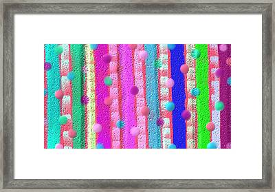Wall Art Of Little Girl Room Framed Print by Rosana Ortiz
