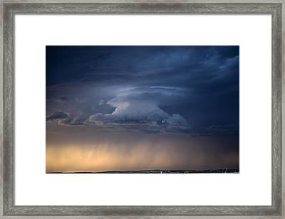 Wall Cloud Convecting Framed Print by Loren Rye
