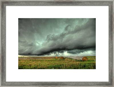 Wall Cloud Framed Print by Thomas Zimmerman