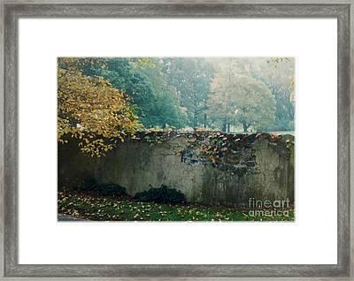 Wall In Fall Framed Print by Maxine Bochnia