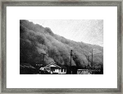 Wall Of Dust, Kansas, 1935 Framed Print by Science Source