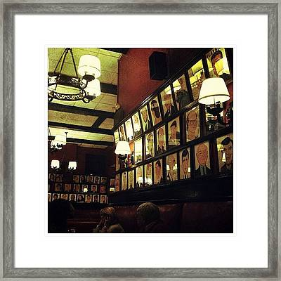 Wall Of Fame Framed Print