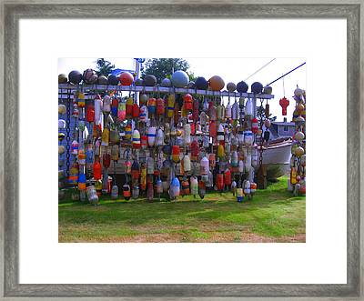 Wall Of Floats Framed Print