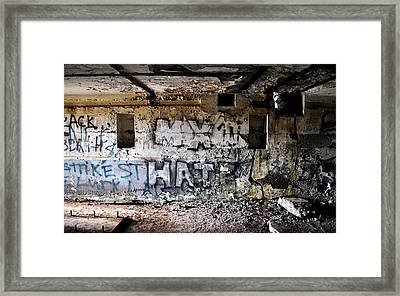 Wall Of Hate Framed Print