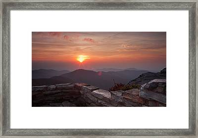 Wall Of Orange Framed Print by Daniel Lowe