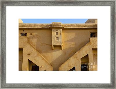Wall Of The Amber Fort Framed Print by Inti St. Clair