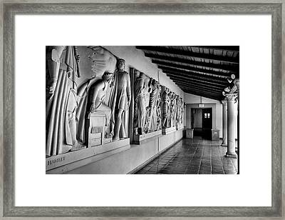 Wall Sculpture At Scripps Framed Print by Steven Ainsworth