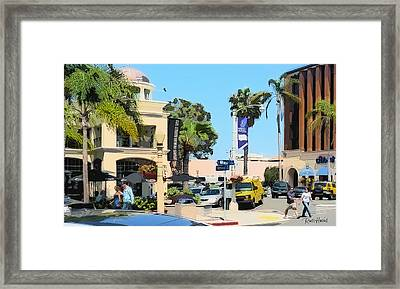 Wall Street And Herschel La Jolla Framed Print by Russ Harris