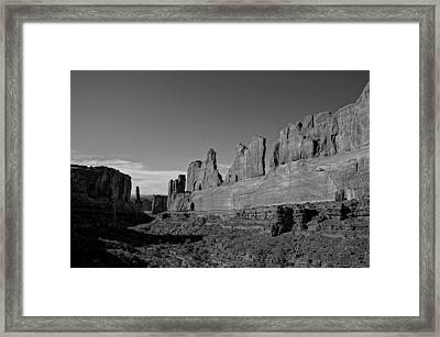 Wall Street Arches National Park Utah Framed Print by Scott McGuire