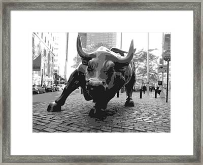 Wall Street Bull Bw8 Framed Print by Scott Kelley