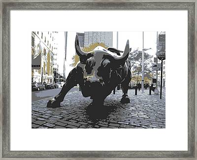 Wall Street Bull Color 6 Framed Print by Scott Kelley