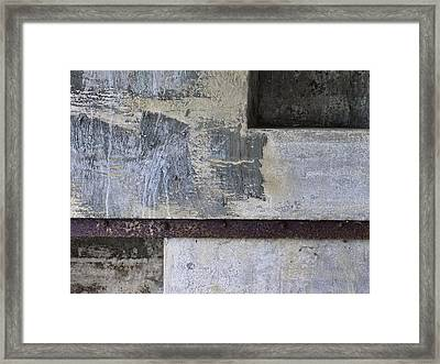 Wall Texture Number 12 Framed Print by Carol Leigh