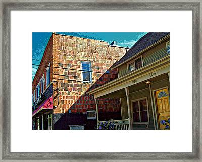 Framed Print featuring the photograph Wall Tiles And Wallflowers by MJ Olsen